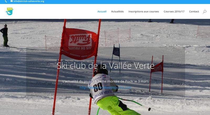 Le nouveau site WEB du ski club